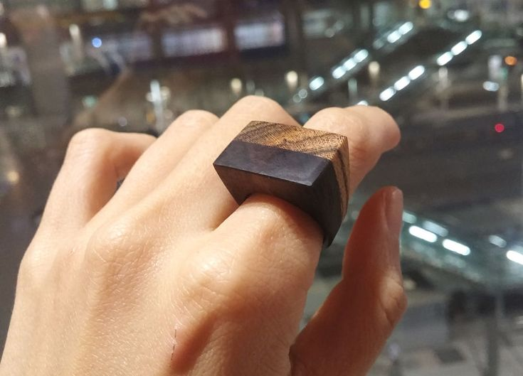 Chansthinks flat wooden ring/layered #Chansthinks