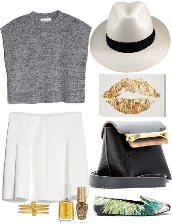 """A pop of gold today"" by katheeroux on Polyvore"