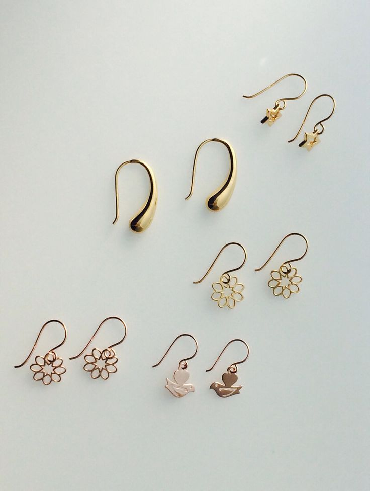 Gold & rose gold plated sterling silver earrings.