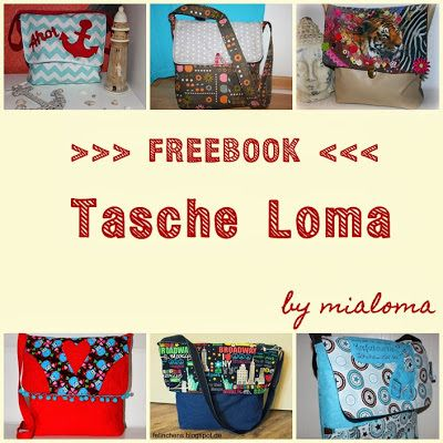Freebook Umhängetasche LOMA nähen, Handtasche, Tasche, Messenger Bag