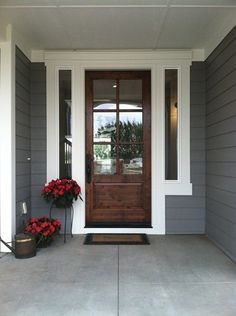 exterior homes painted gauntlet gray - Google Search