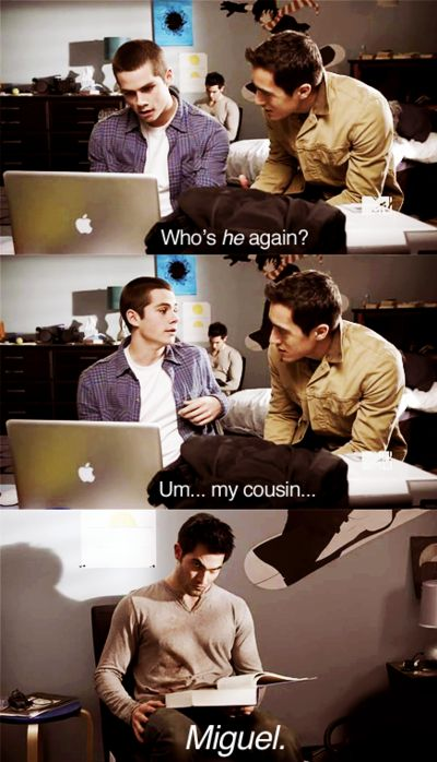 Teen Wolf, Stiles (Dylan O'Brien) and Derek (Tyler Hoechlin) xD love this part!!!