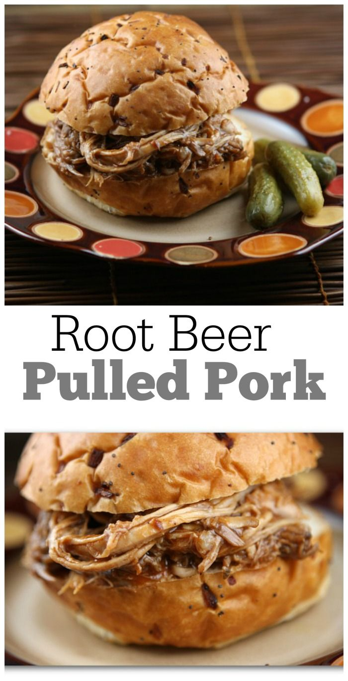 Root Beer Pulled Pork (for sandwiches).  A big-time, family-favorite #recipe