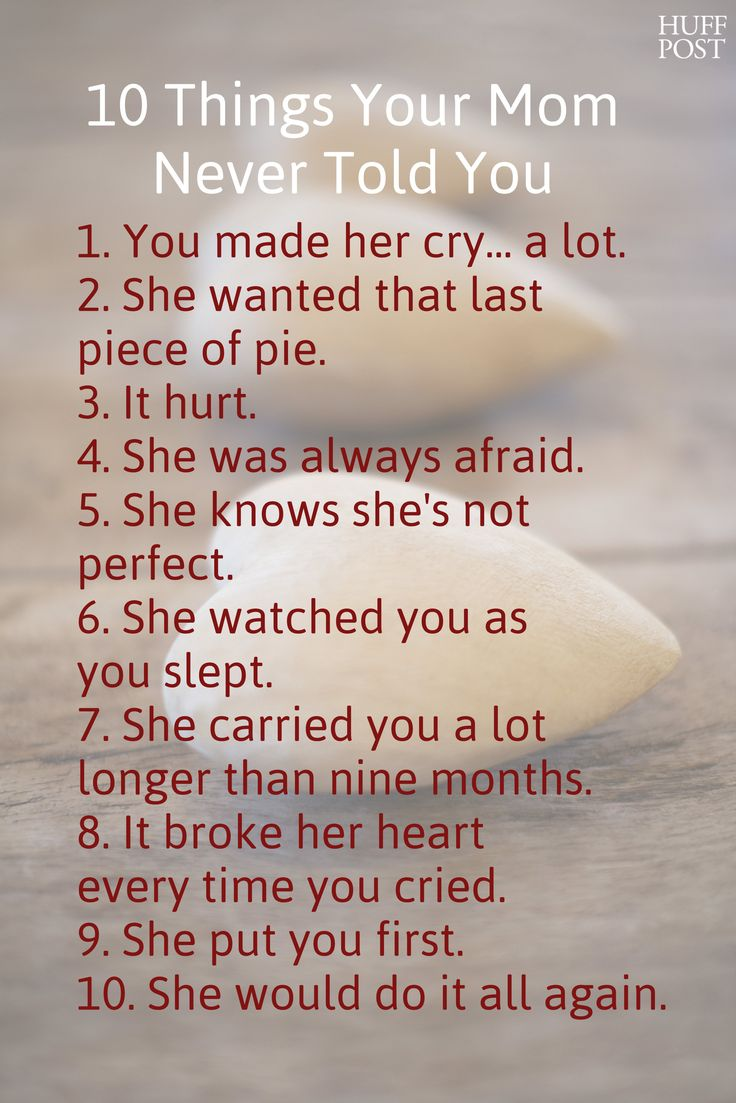 I Love You Quotes To Mom : 10 Things Your Mom Never Told You My mom, Love my mom and Mom