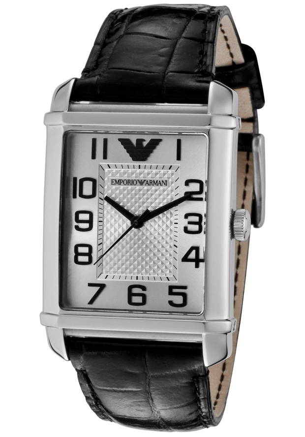 Price:$119.40 #watches Emporio Armani AR0487, This chic Emporio Armani never goes out of style. With its embossed genuine leather strap and modern design, this timepiece will always make a scene where ever you go.