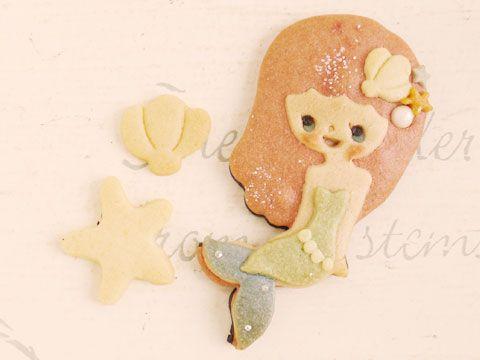 童話★パステルピンクの人魚姫 - 絵本なお菓子sai*は童話やロマンチックなモチーフをクッキーにしてお届けする絵本なクッキー専門店です。メッセージ入りのクッキーを受注製作してお取り寄せいただけます。ウェディングのプチギフトやケーキトッパー、お誕生日の贈り物、発表会の差し入れ、クリスマス、バレンタイン、ホワイトデー、ハロウィン、母の日、父の日、ひな祭り、こどもの日・・などのイベントに喜ばれるプレゼントに。天然由来のナチュラルで素朴な乙女なクッキーをお楽しみください。