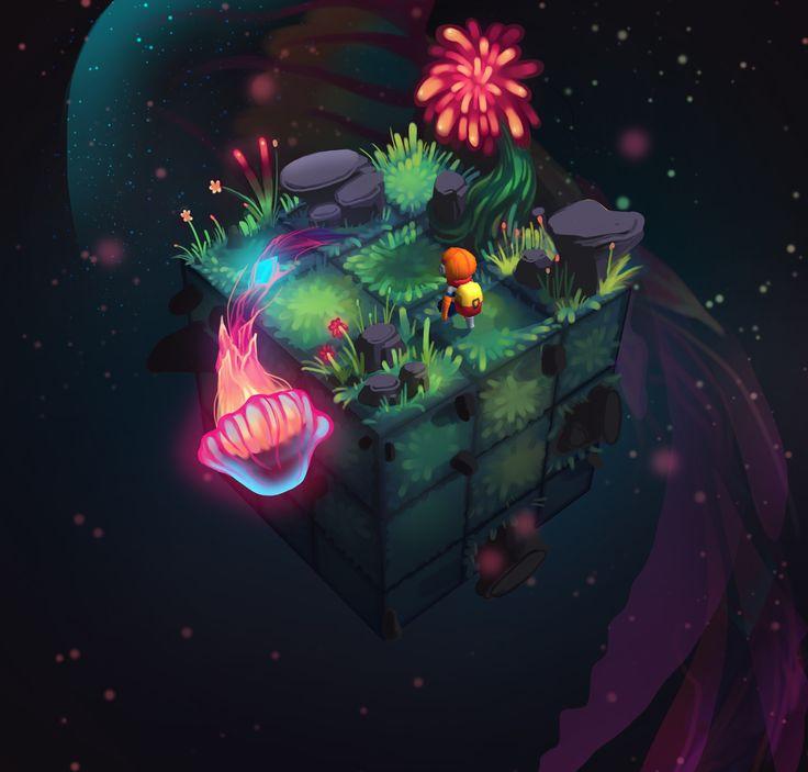 ArtStation - Cubiverse - Space Jellyfish, Simone Mändl