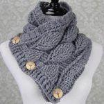 Häkeln Sie Leaf Stitch Cowl kostenlose Muster