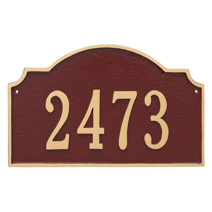 Montague Metal Vanderbilt Estate Address Sign Wall Plaque - PCS-0060E1-W-CS