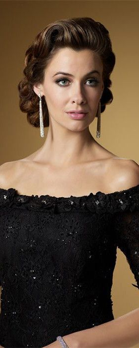 The Mother of Groom Hairstyles Medium Length | mother of the bride dress - love the hair style