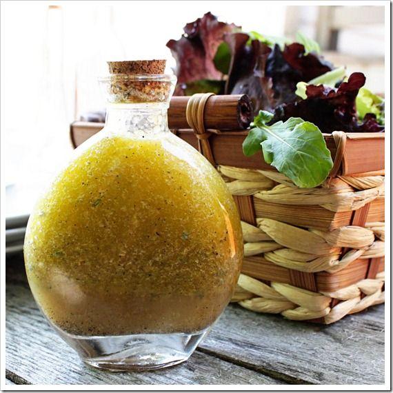 Lemon Thyme Dressing        Zest of one lemon      1 Tbsp fresh thyme leaves      Juice of one lemon (about 2 Tbsp)      2 Tbsp white balsamic vinegar      1/2 cup olive oil      1/2 tsp sea salt      1/2 tsp black pepper