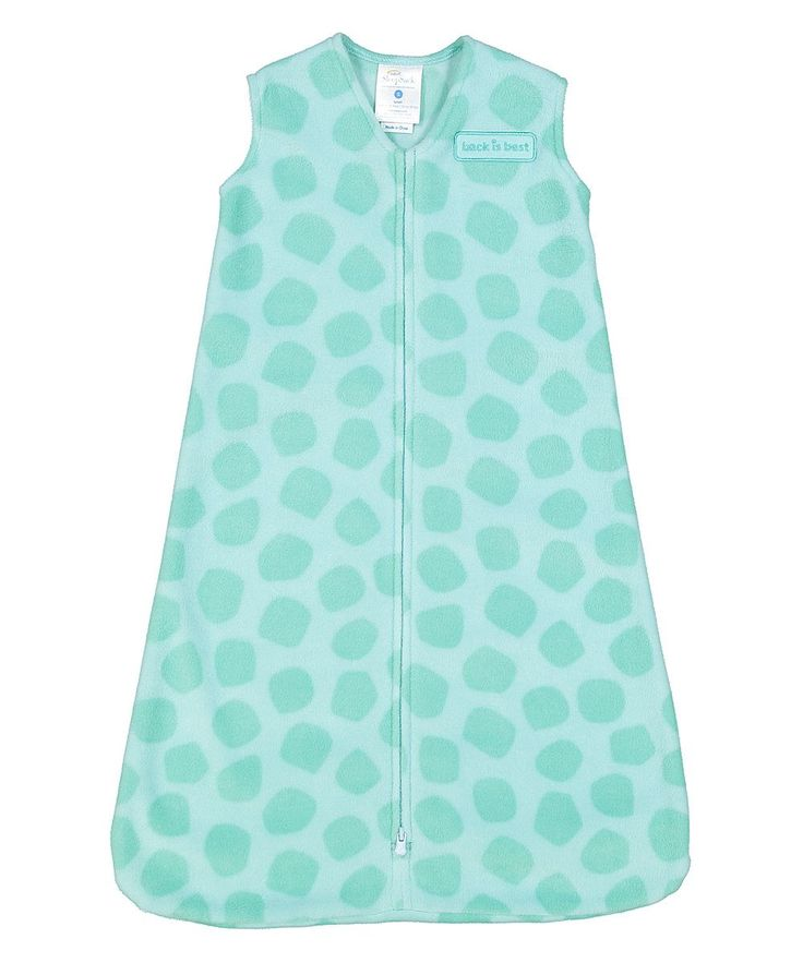 Turquoise Spot Fleece SleepSack Wearable Blanket - Infant