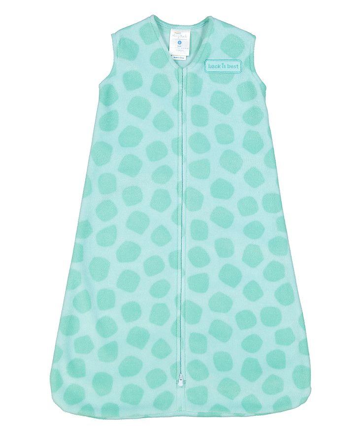 Turquoise Spot Fleece SleepSack Wearable Blanket - Infant