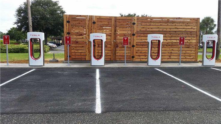 Tesla charging station lake city florida coming to a city near you #tesla go green