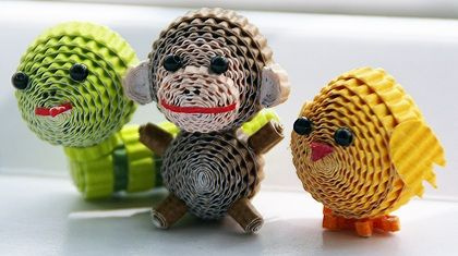 Quilling - 3D Zoo Animals | Origami and PaperCraft – Origami Paper Club