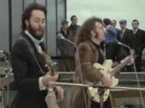 """""""Don't Let Me Down"""" - The Beatles. Video From Rooftop Concert"""