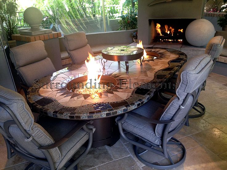 11 best mosaic patio dining fire pit tables images on pinterest patio dining mosaic table. Black Bedroom Furniture Sets. Home Design Ideas