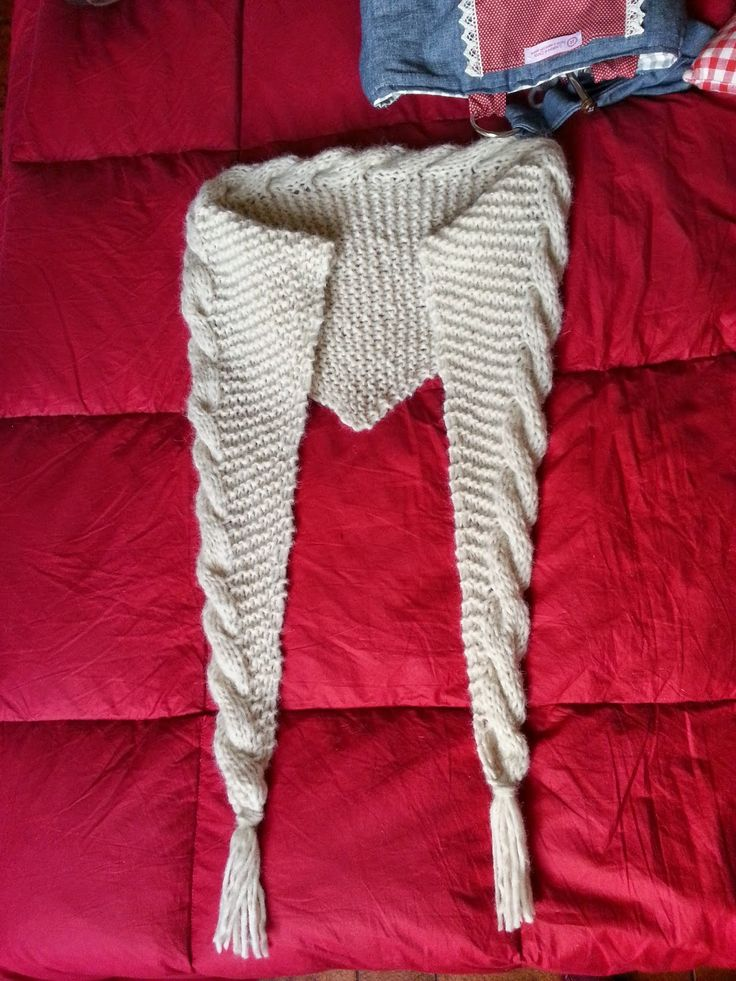 Sogni di lana: Baktus con treccia Tutorial, weaving baktus tutorial