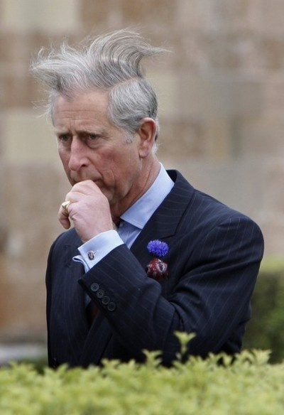 Windy...Oh Charles. Use hairspray when overcombing..