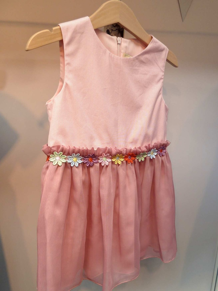 Simple party dress with floral decorated waist for kidswear summer 2013 from Victoria and Elfie