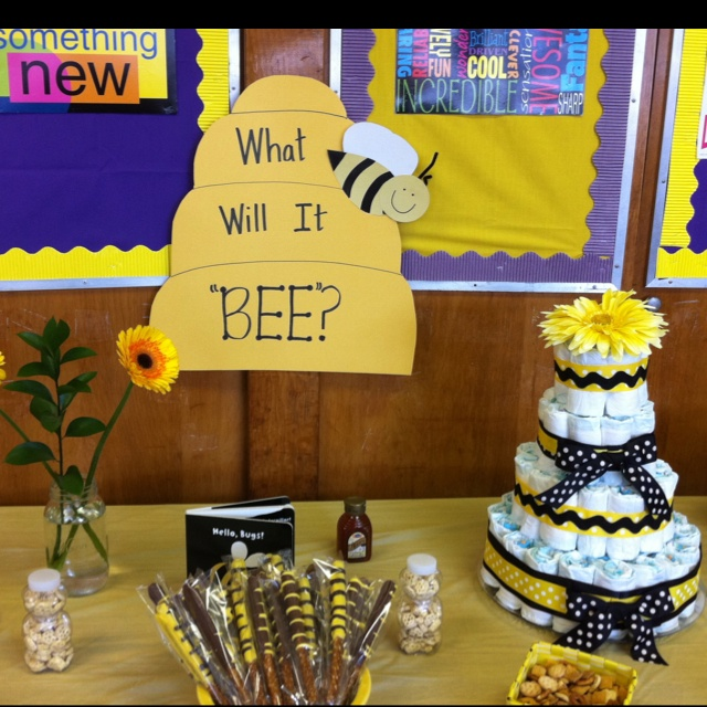 Great I Like The General Concept Of This Gender Neutral Bee Baby Shower. Would Def  Change