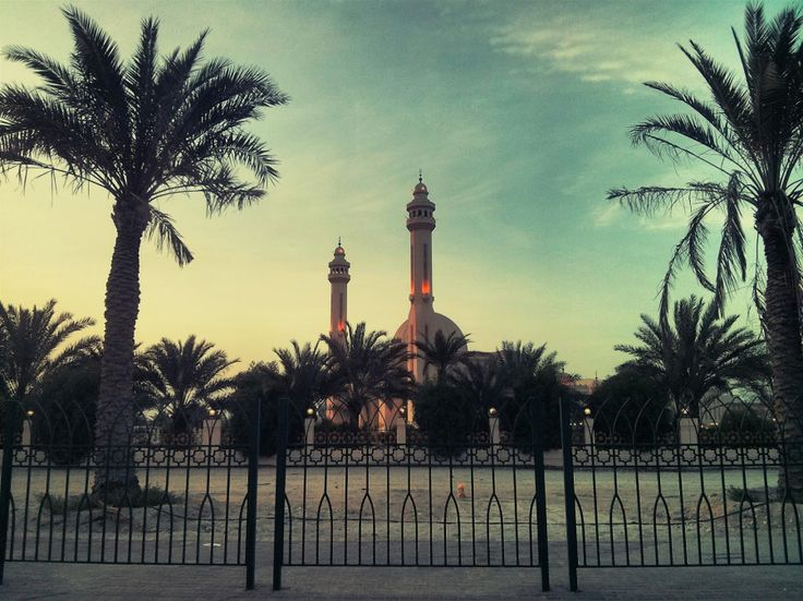 A glimpse of Al Fateh mosque in Bahrain. It really is an amazing bit of architecture.
