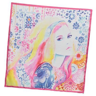L'avion Marrakech scarf. Watercolour painting by Cate Parr for L'avion.