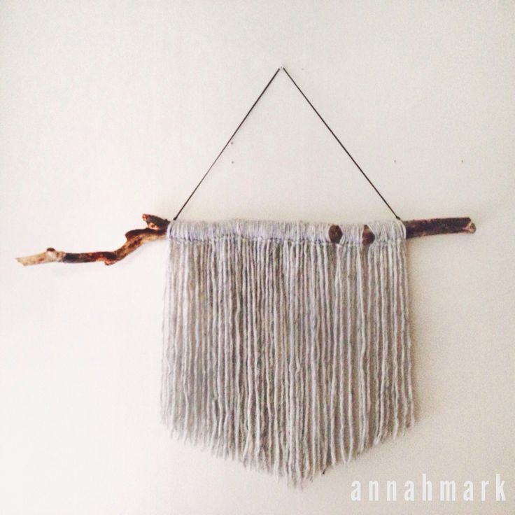 Wallhanging by annahmark with Norwegian wood and Swedish lovika yarn #wallhanging #lovika #yarn