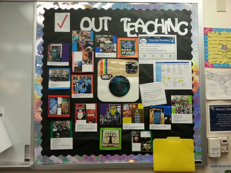 Instagram teacher training bulletin board Art handouts