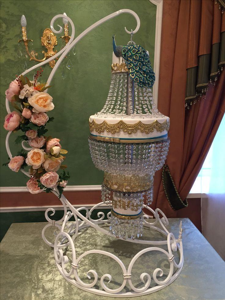 Торт люстра, wedding cake