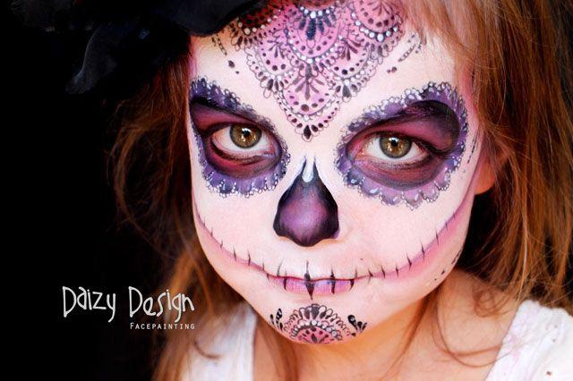Maquillaje de halloween art stico para tus ni os Maquillaje para ninas halloween