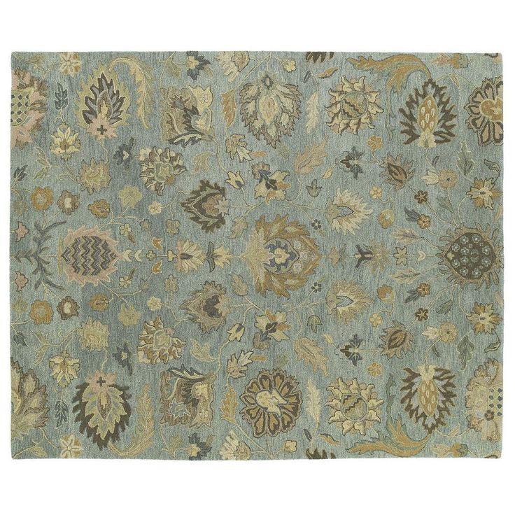 Kaleen Helena Troy Floral Wool Rug, Beig/Green (Beig/Khaki)