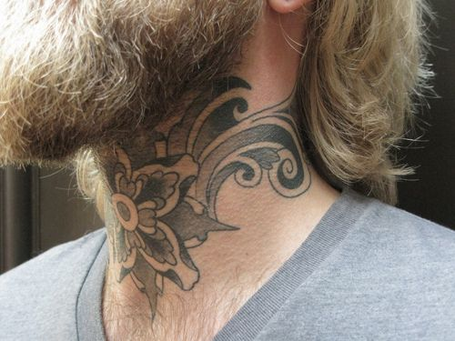 #neck #tattoos. Not a fan of neck tattoos but like the tat.