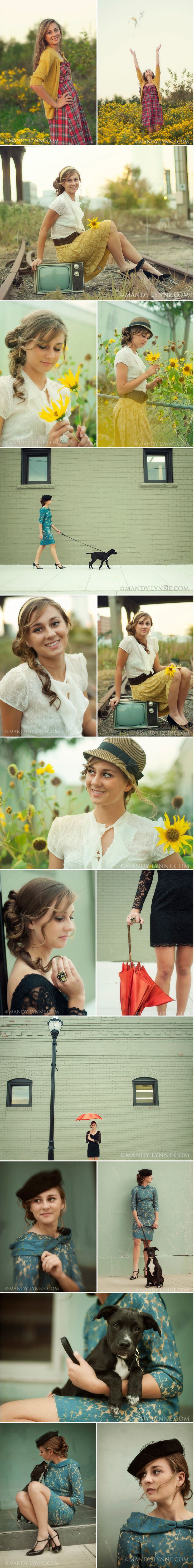 I love all of these!  I want my senior photos to look something like this