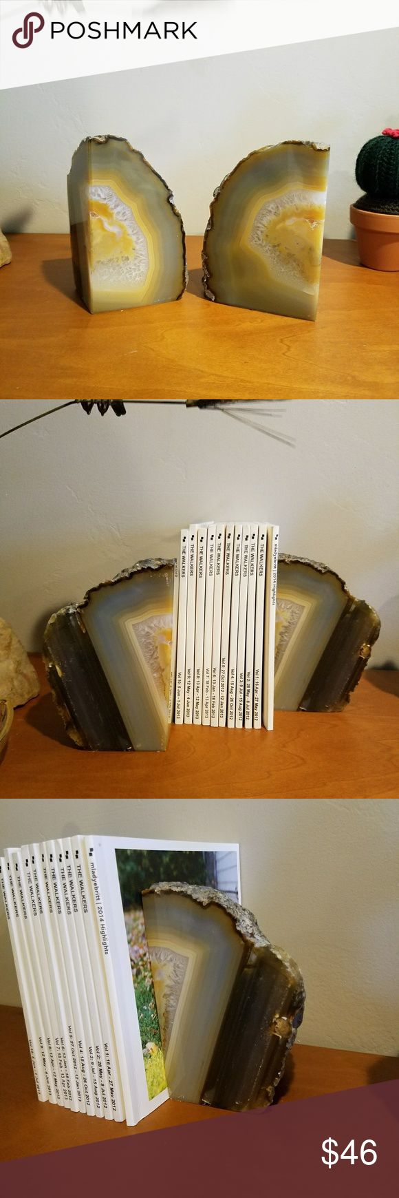 Vintage agate bookends Vintage agate bookends or shelf accent. Other