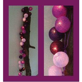 Purple Cotton Ball Lichtslinger