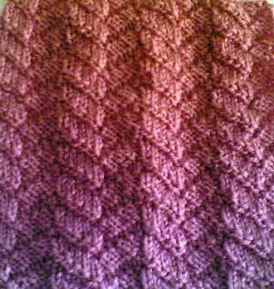 Tricotar Galore: Saturday Stitch: Mock Cable Stitch.