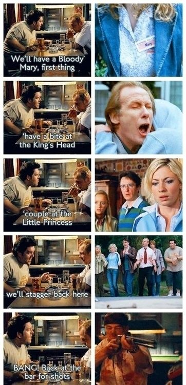 "Ed's pep talk to Shaun at the beginning foreshadows the plot of the film. | 17 Things You Never Knew About ""Shaun Of The Dead"""