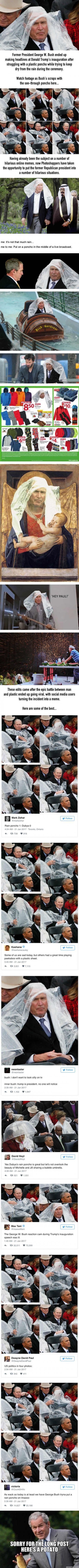 George Bush's Poncho Fight Got The Photoshop Treatment It Deserved