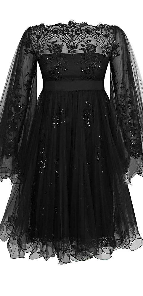 Marchesa ● Tulle Overlay Dress