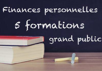 % formations en finances personnelles destinées au grand public