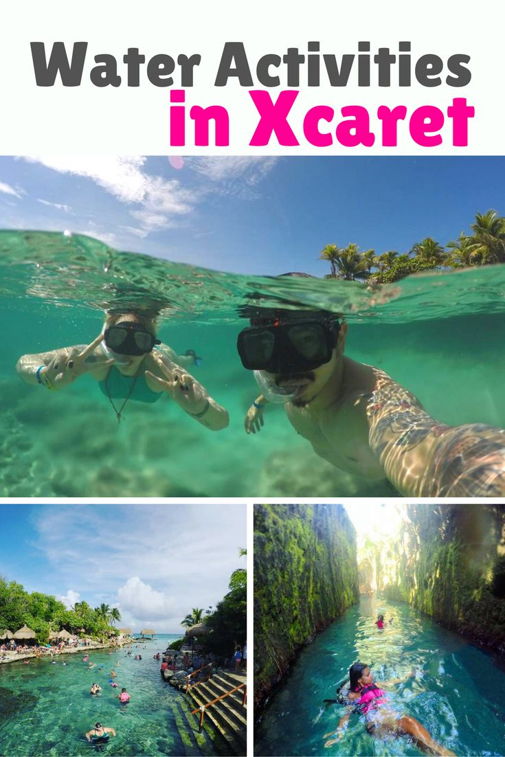 Suggested route through Xcaret Park to seize the water activities.