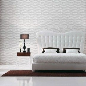 17 best images about bedhoofdborden on pinterest diy headboards mattress and white pillows - Wallpaper voor hoofdeinde ...