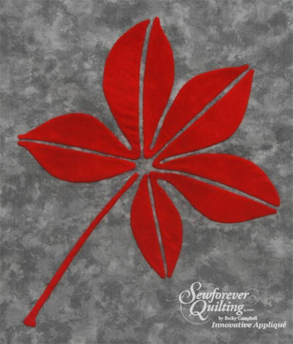 buckeye craft patterns | Buckeye Leaf by Becky Campbell | Quilting Pattern