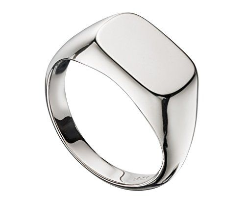 Hallmarked 925 Sterling Silver Mens Signet Ring