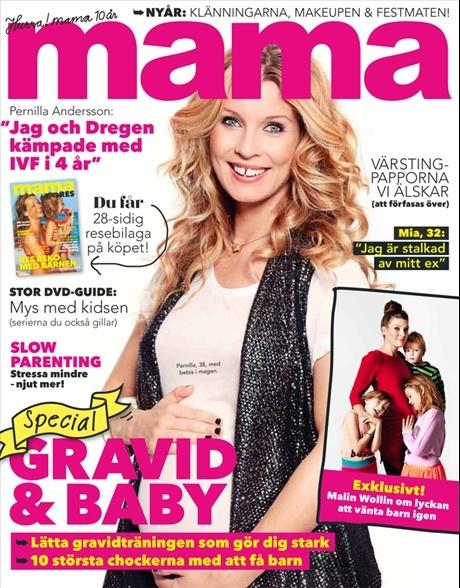 mama nr 1, 2013. Pernilla Andersson på omslaget.
