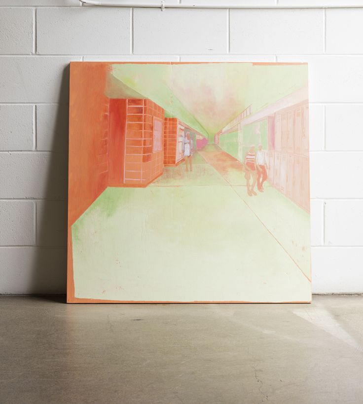 Kate Small, Home Time, 2015, Oil on plywood, 1000 x 1000mm