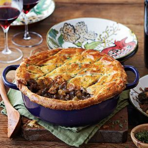 Short Rib Wellington Potpie: use stew meat instead of short ribs. It's cheaper and works fine.