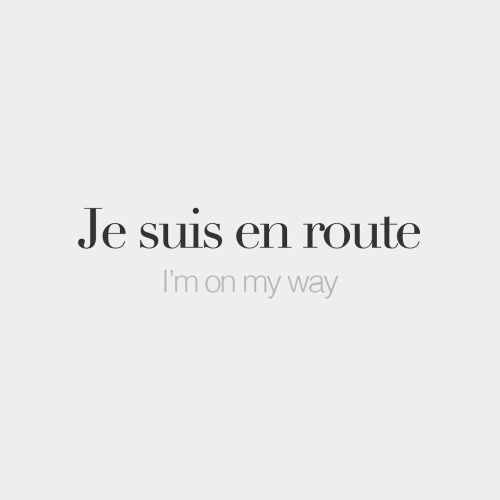 "bonjourfrenchwords: "" Je suis en route • I'm on my way • /ʒə sɥiz‿ɑ̃ ʁut/ If you love @frenchwords, you'll love our boutique and our made in France gorgeous products (link in bio)! Order now with the ""BONJOURFW"" discount code. You'll get 10% off! """