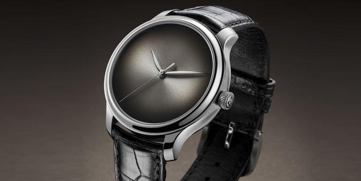 El nuevo Concept Watch solo muestra en su esfera horas y minutos, y un segundero central. Todo lo demás es esfera ahumada, negra o del color que quiera el cliente -porque se pueden hacer a medida-. No hay índices, no hay nombre de marca...